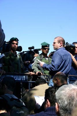 Sami Awad at Bethlehem Checkpoint